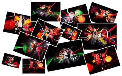 animation light painting - Effets photo en live