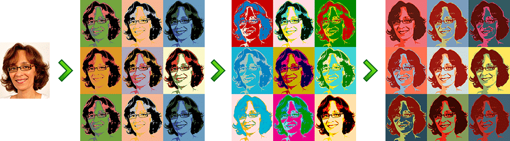 animation photo andy warhol - Effects and Filters and other animations photo in live