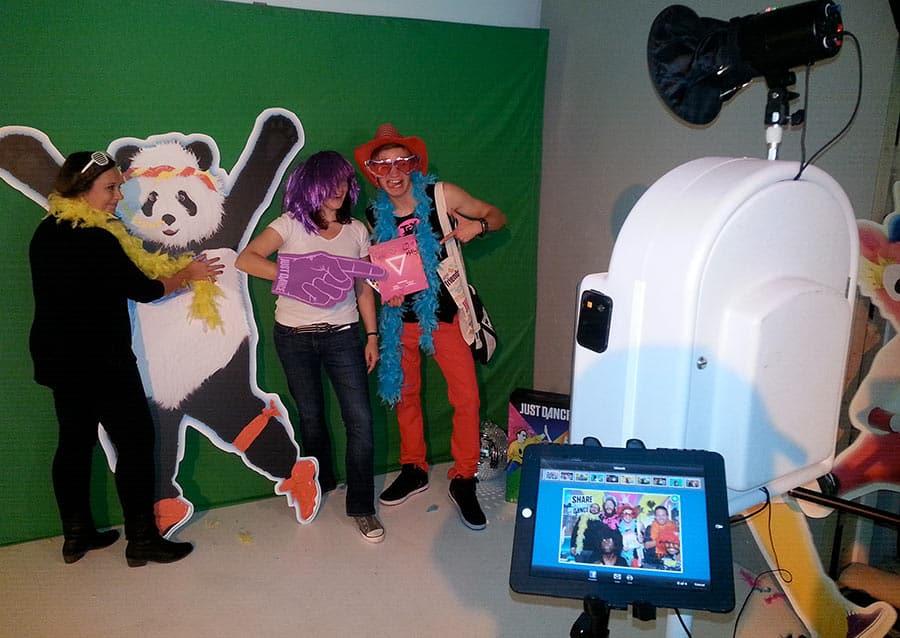photobox party ubisoft - La Photobox Party: une borne libre service type photomaton photocall ou studio photo