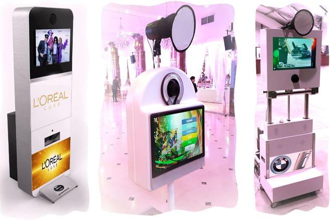 location photobooth fond vert - La Photobox Party: une borne libre service type photomaton photocall ou studio photo