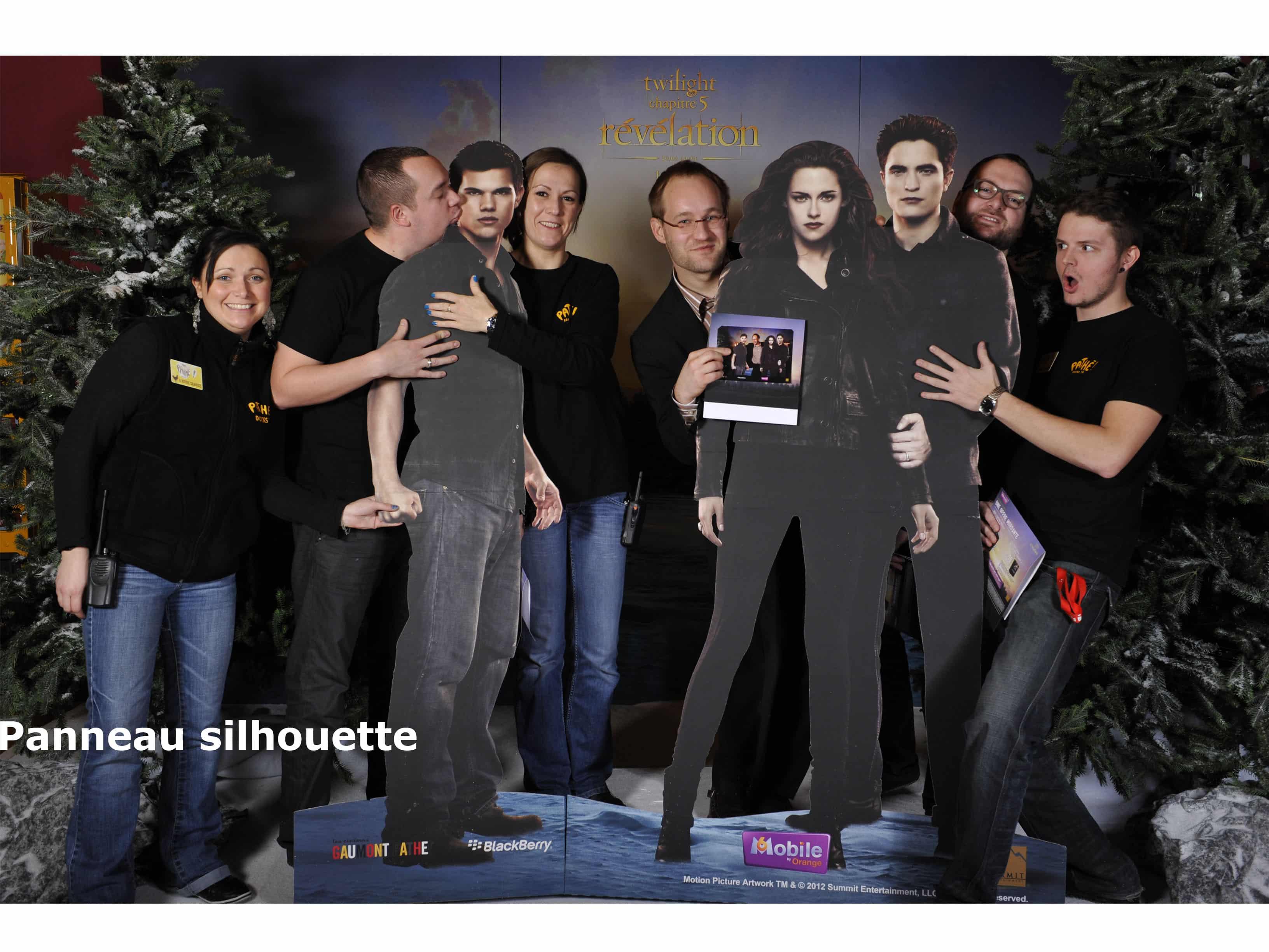 panneaux silhouettes photobooth 2 - Effets photo en live