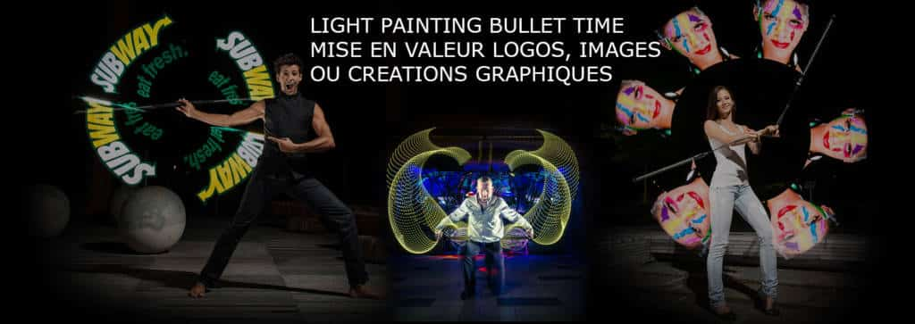lightpainting bullet time